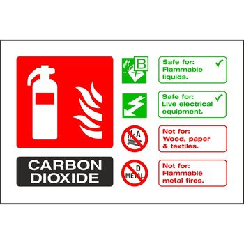 Fire extinguisher identification - CARBON DIOXIDE