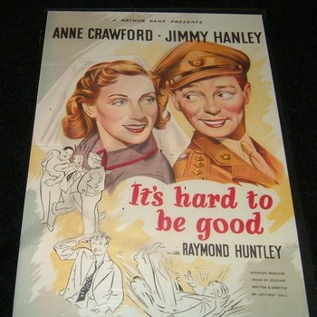 ITS HARD TO BE GOOD 1948 DVD