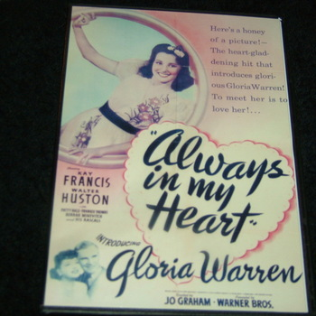 ALWAYS IN MY HEART 1942 DVD