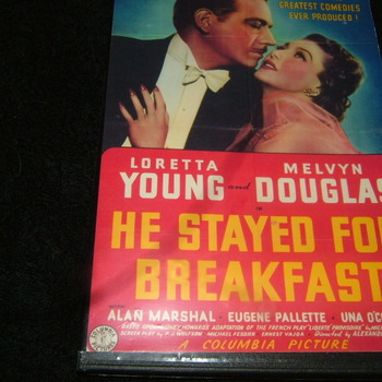 he stayed for breakfast 1940 dvd