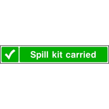 Spill kit carried