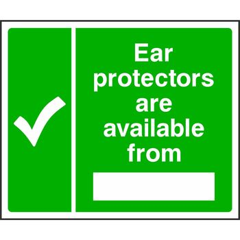 Ear protectors are available from