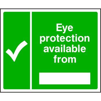 Eye protection available from