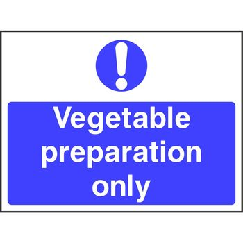 Vegetable preparation only