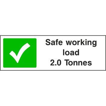 Safe working load 2.0 Tonnes
