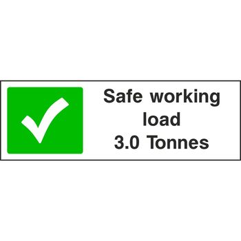 Safe working load 3.0 Tonnes