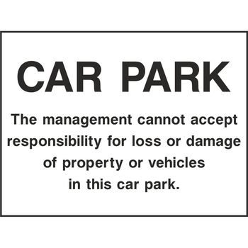 CAR PARK The management cannot accept responsibility