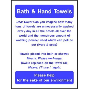 Bath & Hand Towels Notice
