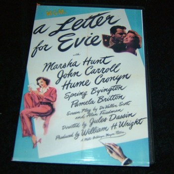 A LETTER FOR EVIE 1946 DVD