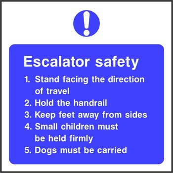 Escalator safety notice