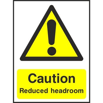 Caution Reduced headroom