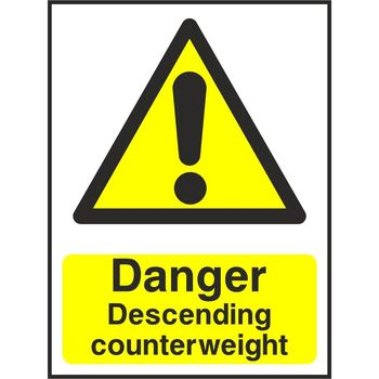 Danger Descending counterweight