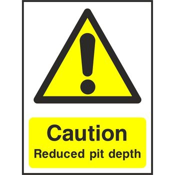 Caution Reduced pit depth