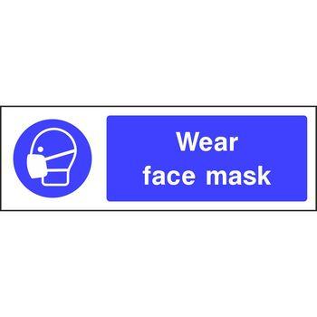 Wear Goggles Sign 150mm x 200mm Self Adhesive Vinyl