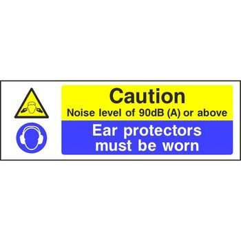 Caution Noise level of 90dB (A) or above Ear protectors must be worn