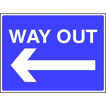 Way out with arrow to the left