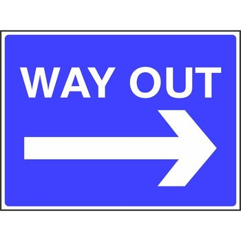 Way out with arrow to the right