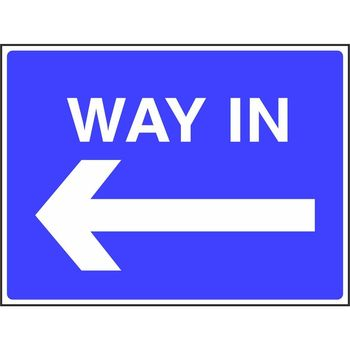 Way in with arrow to the left