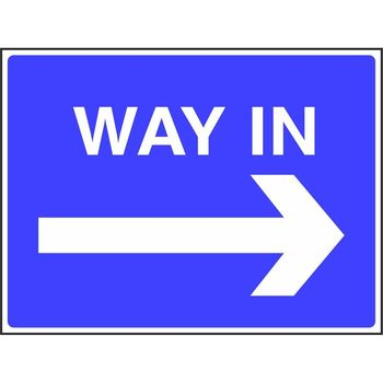 Way in with arrow to the right