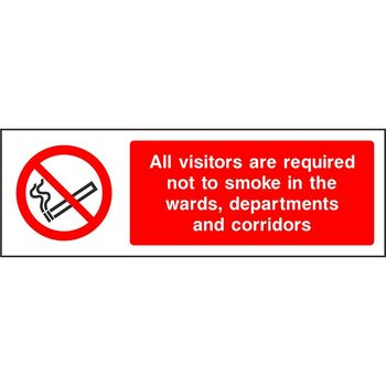 All visitors are required not to smoke in the wards, departments and corridors