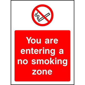You are entering a no smoking zone