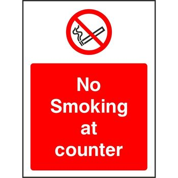 No Smoking at counter