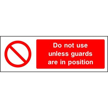 Do not use unless guards are in operation