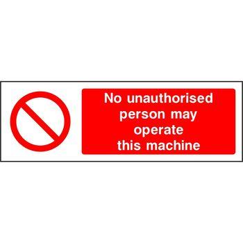 Machinery - Prohibition