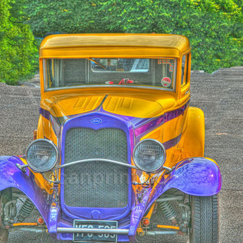 Vintage yellow Ford