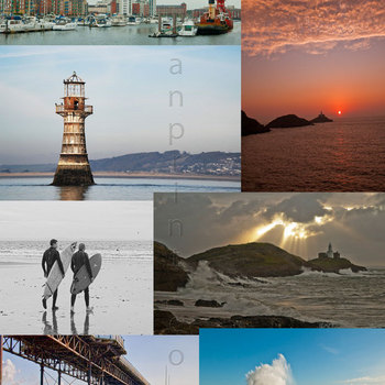 Photo Collage of Swansea and the Gower
