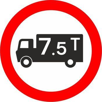 No vehicle over 7.5 ton