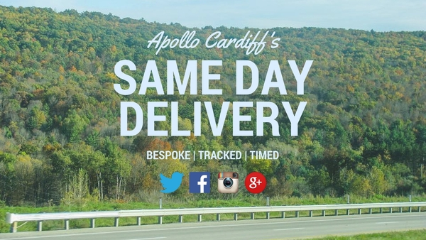 Apollo Cardiff's Delivery Service Same Day Promise