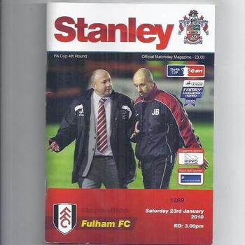 Accrington Stanley v Fulham FA Cup 2009/10