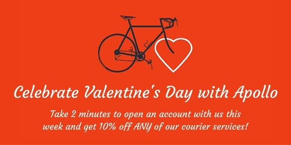Celebrate Valentine's Day with Apollo Cardiff Delivery Service