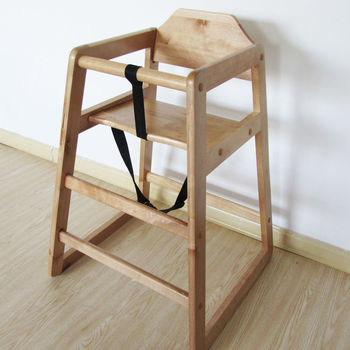 Natural Stackable Wooden Baby Feeding Highchair