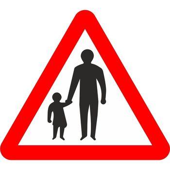 Pedestrians in road