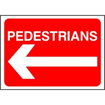 Pedestrians with arrow left