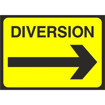 Diversion with arrow right