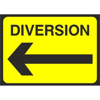 Diversion with arrow left