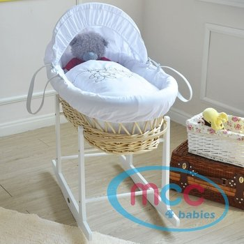 Natural wicker moses baskets