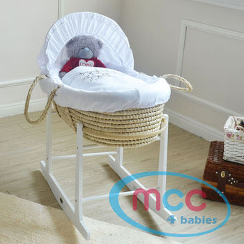 Full Set Palm Moses Basket With Mattress, Cover and Rocking Stand