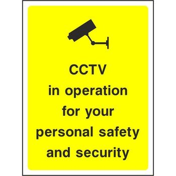 CCTV in operation for your personal safety and security