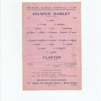 Dulwich Hamlet v Clapton 1945/46 March