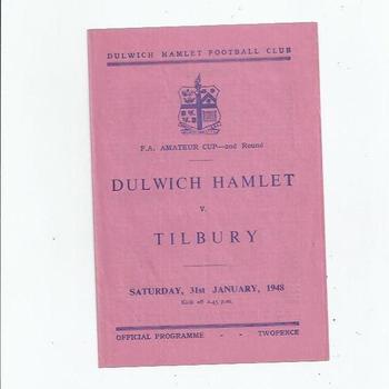 Dulwich Hamlet v Tilbury 1947/48 FA Amateur Cup