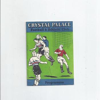 1959/60 Crystal Palace v Gateshead Football Programme