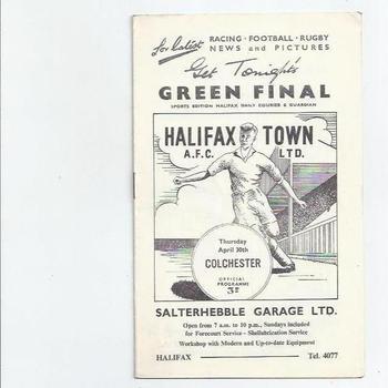 Halifax Town Football Programmes