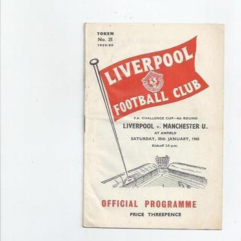 Liverpool Home Football Programmes