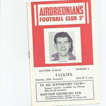 Airdrieonians v Falkirk 1961/62