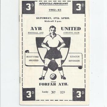 Ayr United v Forfar Athletic 1962/63