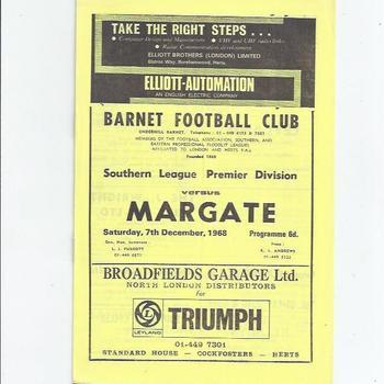 Barnet v Margate 1968/69